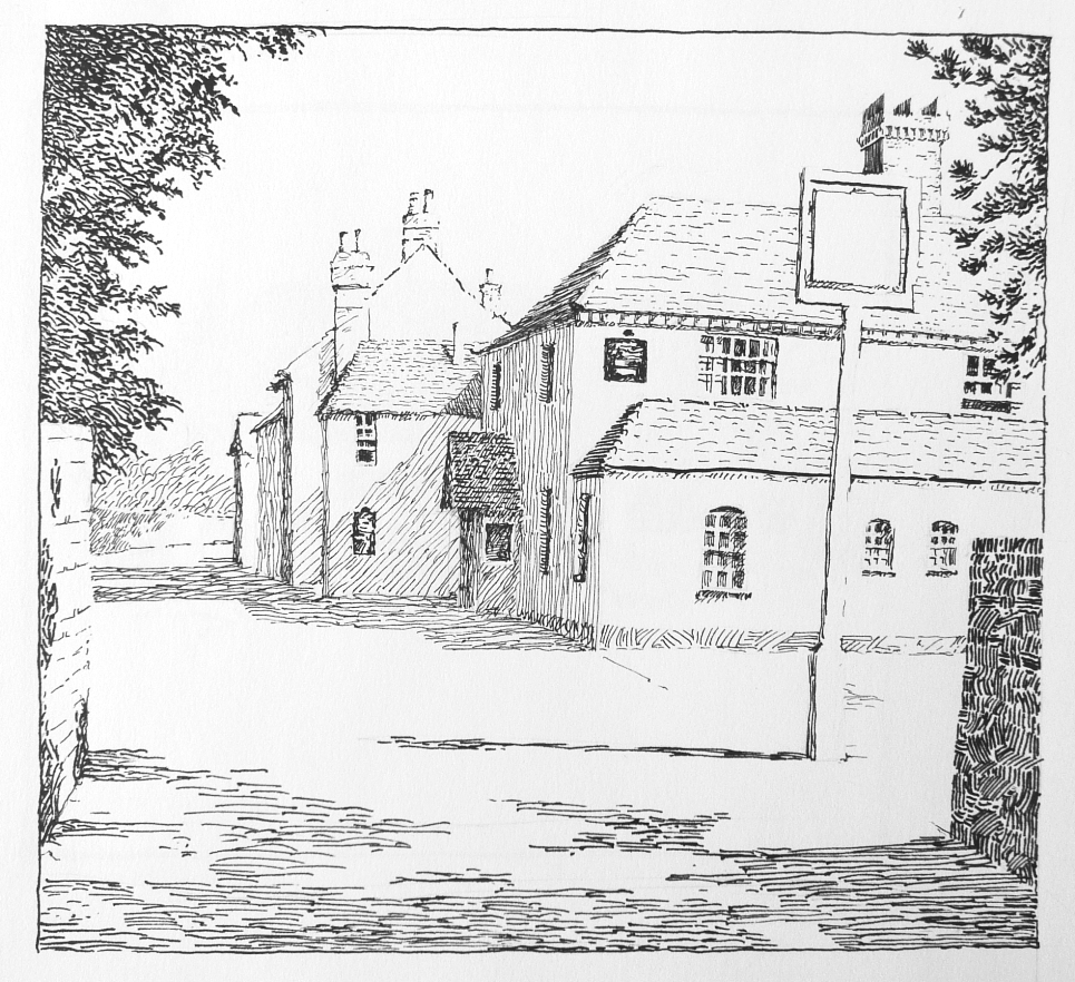 public house pen and ink drawing
