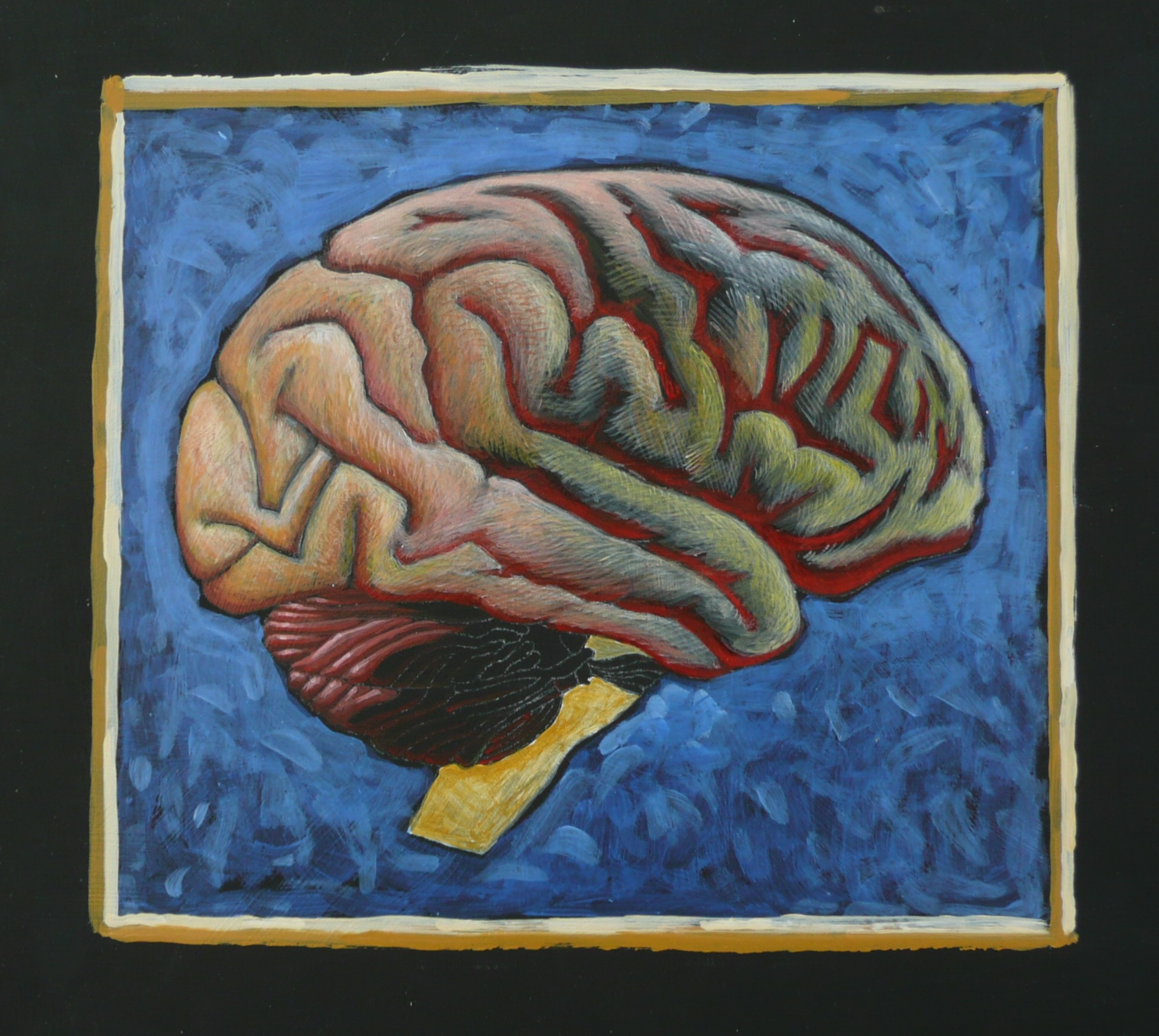 arylic brain painting